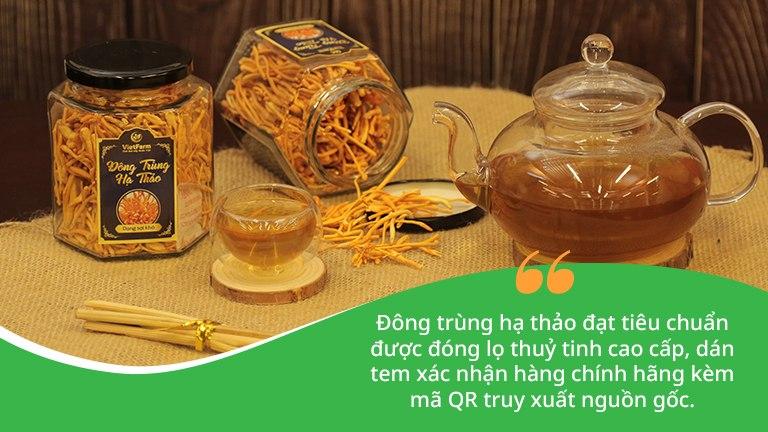 Trà đông trùng hạ thảo Vietfarm cho hương vị thơm ngon, dưỡng chất dồi dào