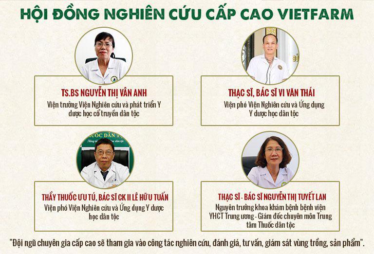 Hội đồng chuyên môn cấp cao trực tiếp nghiên cứu, kiểm định chất lượng đông trùng hạ thảo Vietfarm