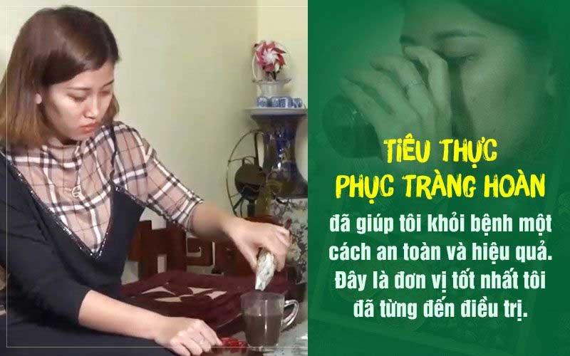 Chị Lê Thị Tuyền chia sẻ sau khi sử dụng bài thuốc