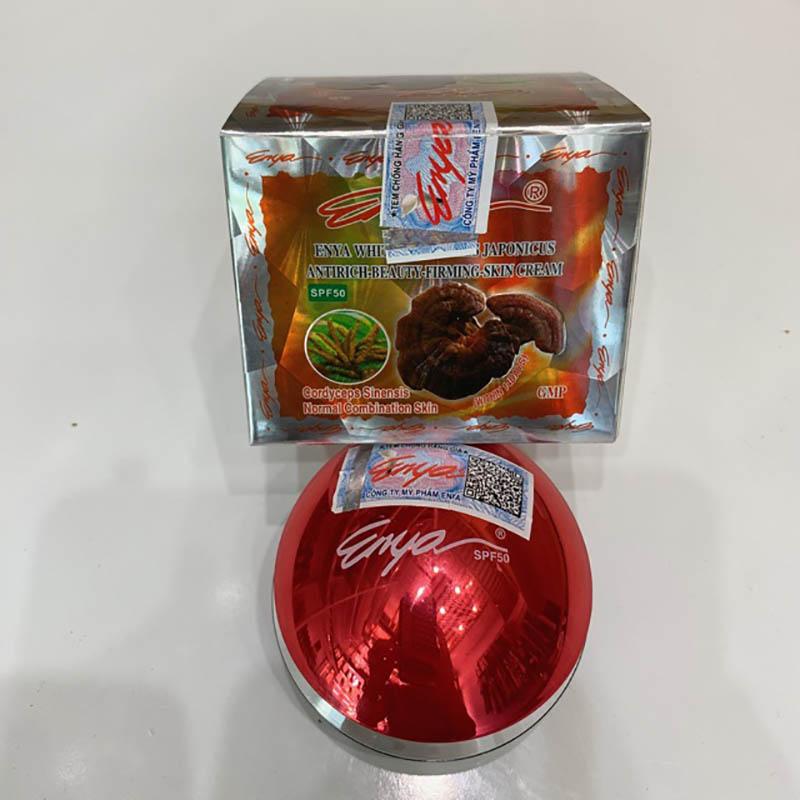 Kem linh chi đông trùng hạ thảo Enya giúp tăng tuần hoàn máu, đem lại một da hồng hào rạng rỡ