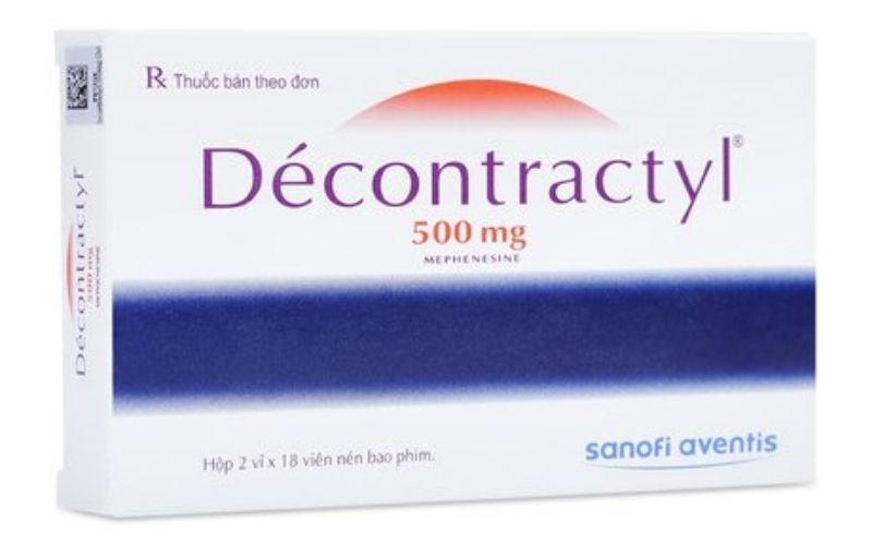 Thuốc giãn cơ có tác dụng giảm đau Decontractyl