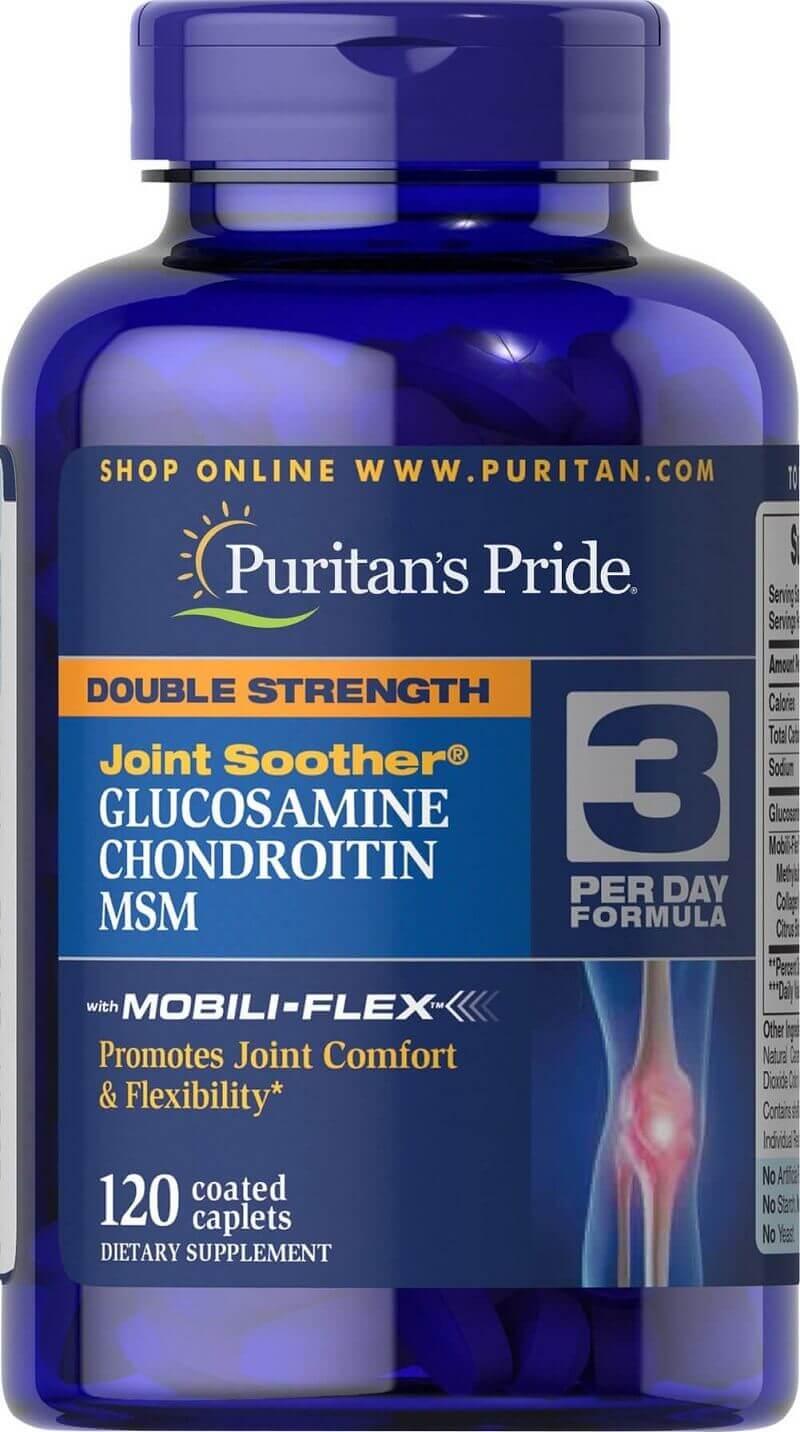 Glucosamine MSM Puritan's Pride hỗ trợ điều trị thoát vị đĩa đệm hỗ trợ điều trị thoát vị đĩa đệm