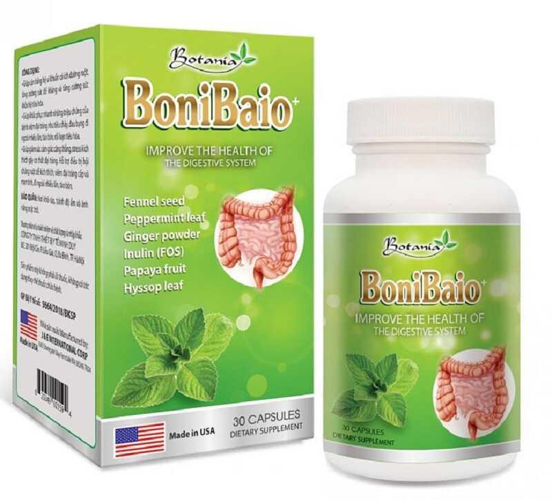 Thuốc chữa viêm đại tràng BoniBaiO được bào chế từ các thành phần thiên nhiên