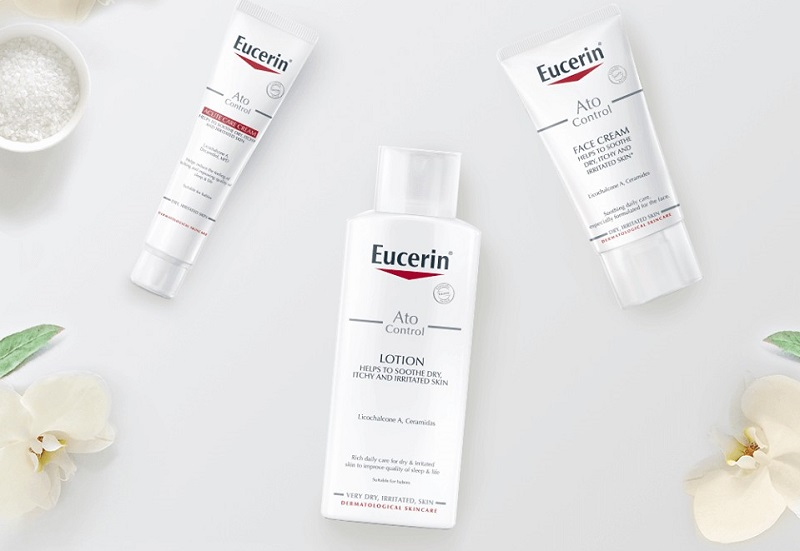 Kem bôi chữa ngứa da mặt Eucerin Ato Control