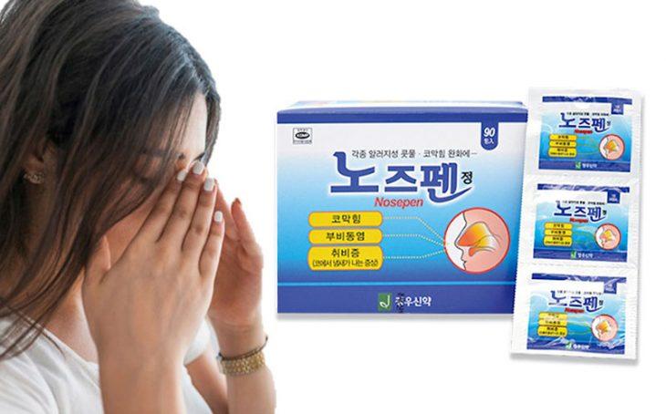 Thuốc viêm xoang Hàn Quốc NOSEPEN: Công dụng, Cách dùng và Lưu ý
