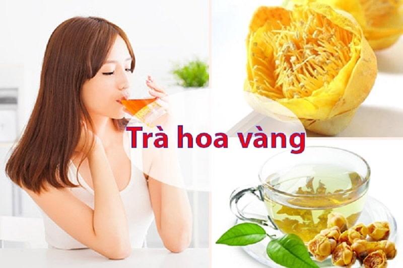 Uống trà hoa vàng giúp giảm căng thẳng, mệt mỏi