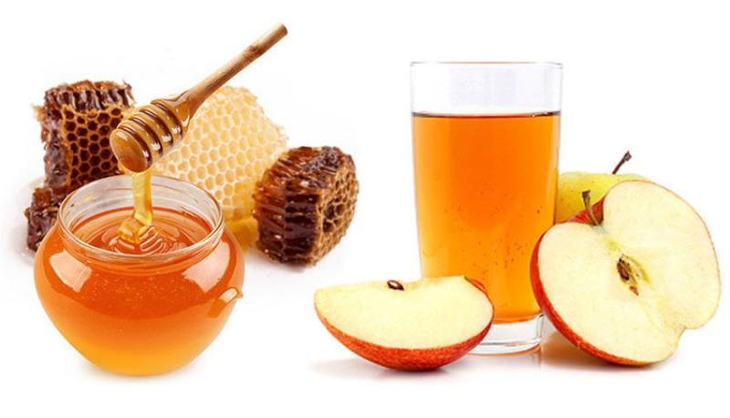 Giấm táo và mật ong đều là hai loại kháng sinh tự nhiên điều trị viêm nhiễm rất hiệu quả