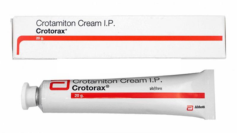 Kem bôi Crotamiton hoặc Permethrin tác dụng làm giảm và loại bỏ lượng ký sinh trùng Demodex trên da