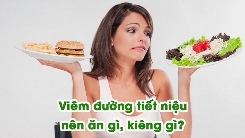 Bị viêm đường tiết niệu cần xây dựng chế độ ăn cho đúng