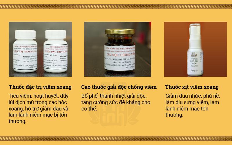 Thuốc xịt viêm xoang Đỗ Minh Đường trong liệu trình gồm 3 bài thuốc