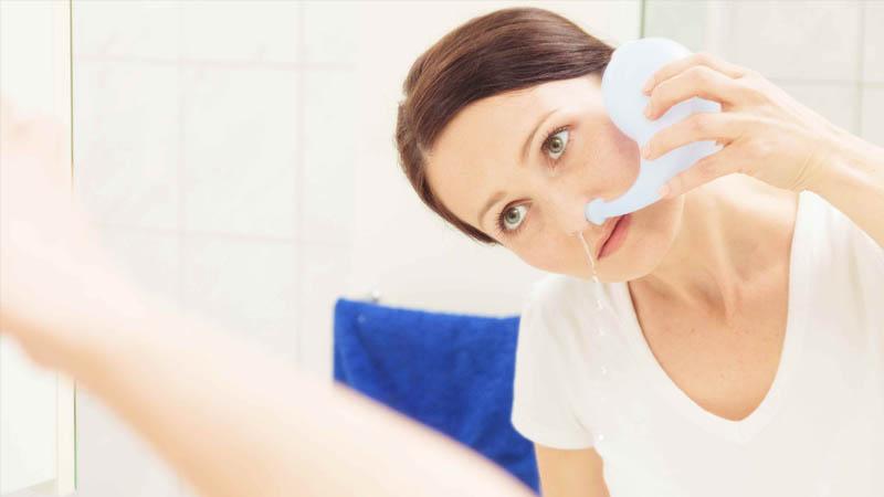 Xông mũi và rửa mũi là cách phòng ngừa bệnh hiệu quả