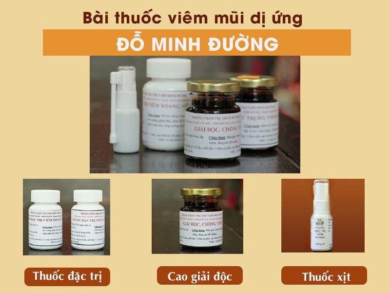 Bài thuốc viêm mũi dị ứng được điều chế thành các chế phẩm sẵn giúp người bệnh tiện lợi khi sử dụng
