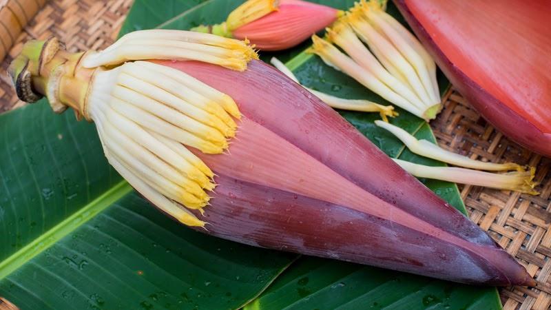 Hoa chuối kết hợp với hoa trà rất tốt cho đường ruột
