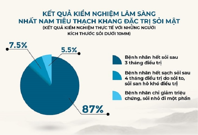 Kết quả kiểm nghiệm của bài thuốc Nhất Nam Tiêu Thạch Khang