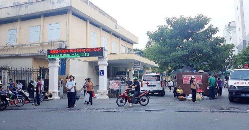 Cổng vào khoa khám bệnh Bệnh viện Việt Đức 16-18 Phủ Doãn