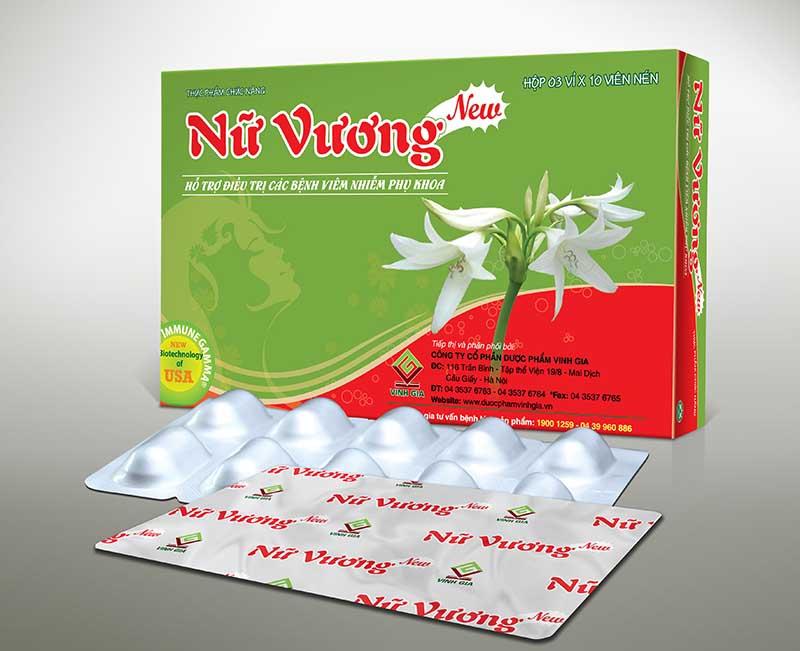 Nữ Vương New điều trị viêm lộ tuyến được bán tại khắp các hiệu thuốc trên toàn quốc