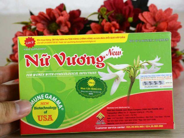 Thành phần chủ yếu của sản phẩm Nữ Vương New điều trị viêm lộ tuyến là thảo dược tự nhiên
