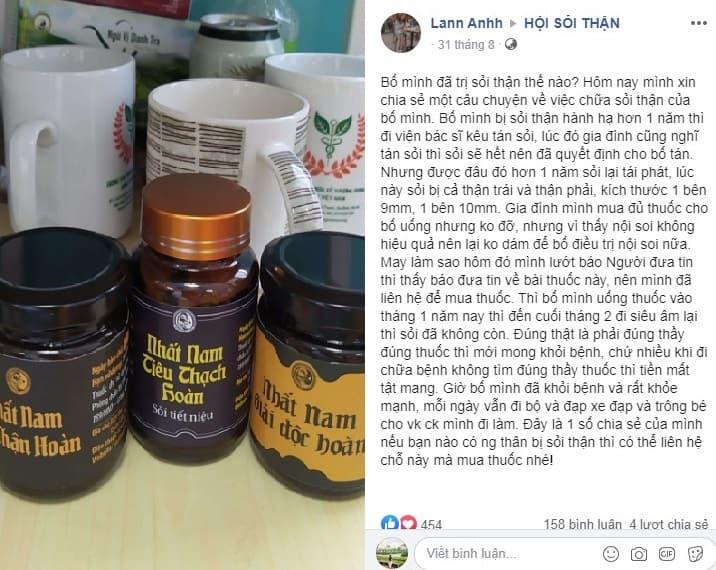 Khách hàng đánh giá về bài thuốc Nhất Nam Định Tâm Khang