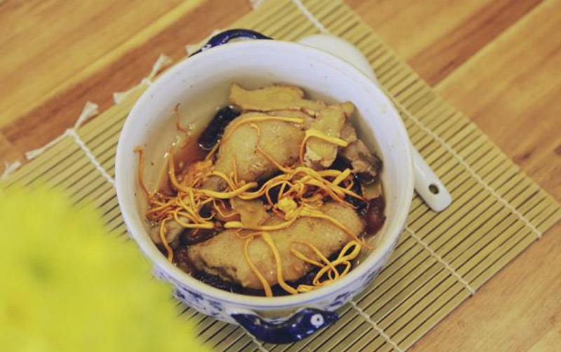 Các món ăn từ đông trùng hạ thảo rất tốt cho người cao tuổi