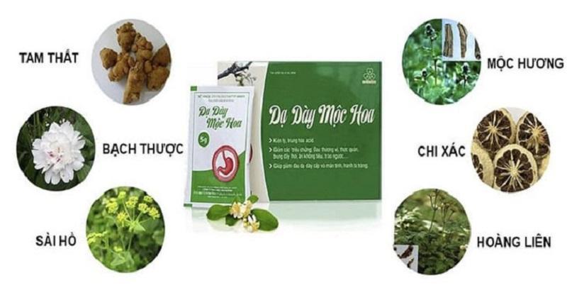 Thành phần dược liệu có trong thuốc Dạ Dày Mộc Hoa