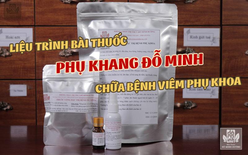 Bài thuốc Phụ Khang Đỗ Minh chữa bệnh phụ khoa kết hợp liệu trình 4 trong 1