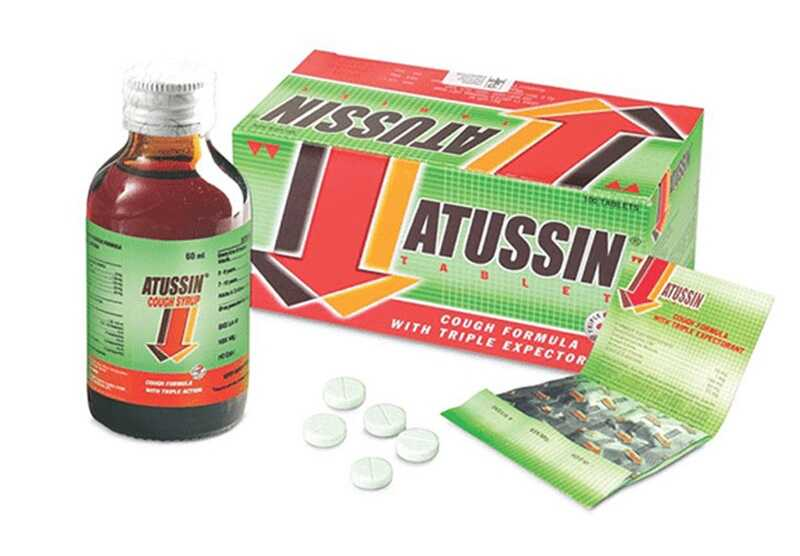 Thuốc trị ho Atussin được bào chế dưới dạng viên và siro