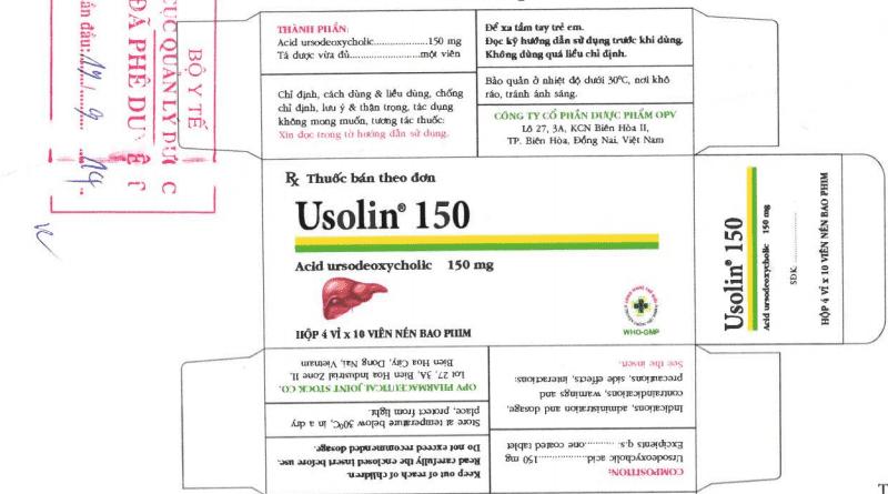 Usolin 150 giúp ngăn ngừa sự hình thành phát triển của sỏi mật