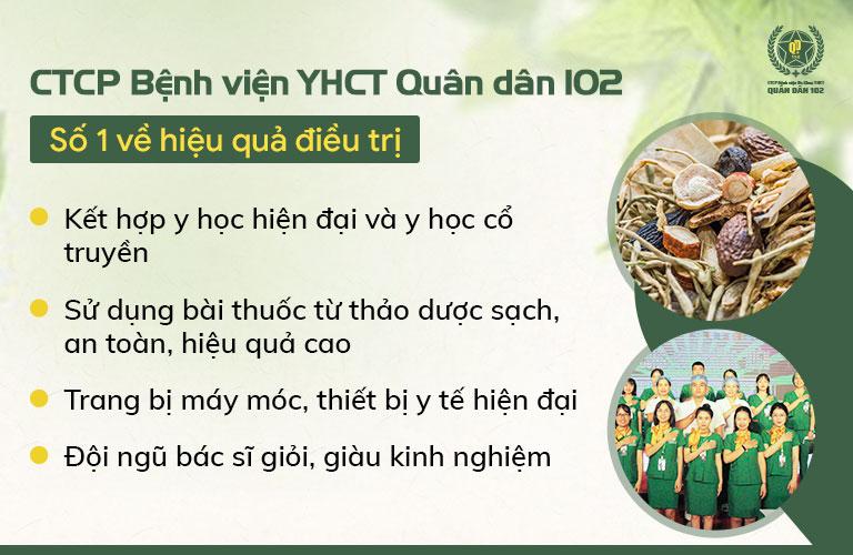 CTCP Bệnh viện YHCT Quân dân 102 là địa chỉ đem lại hiệu quả số 1 về điều trị nổi mề đay