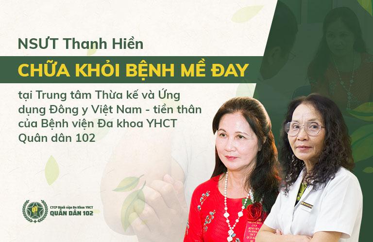 NSUT Thanh Hiền là một trong những bệnh nhân điều trị thành công nhờ bài thuốc mề đay Quân dân 102