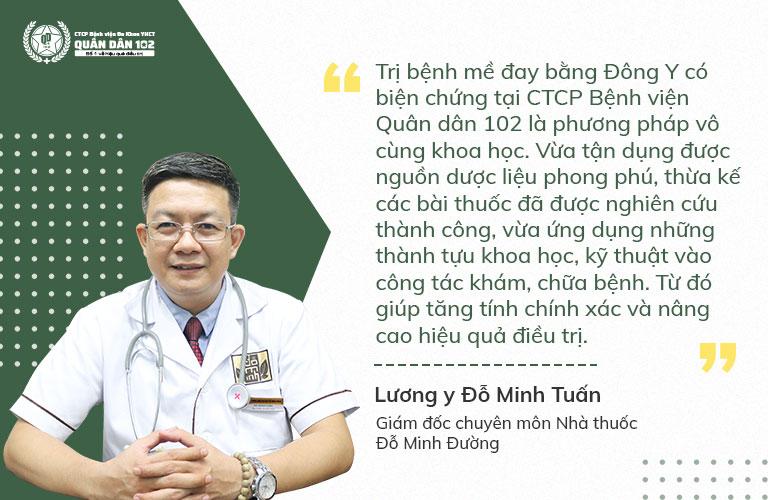 Chuyên gia YHCT dành những đánh giá cao cho phương pháp chữa mề đay tại Quân dân 102