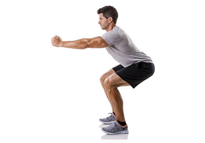Bài tập điều trị rối loạn cương dương bằng squat