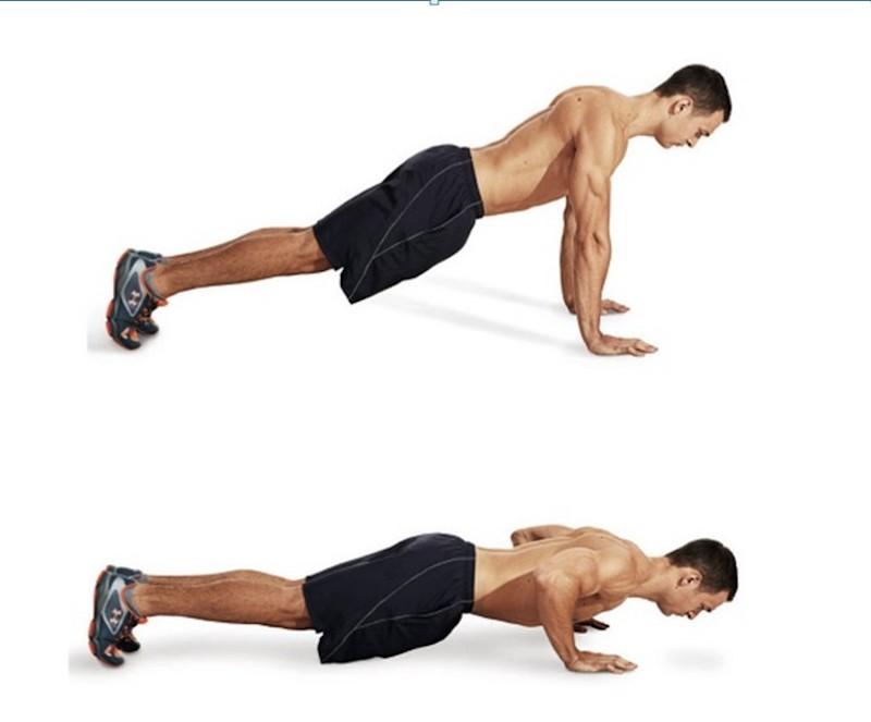 Chống đẩy giúp cơ bụng và cơ thắt lưng thêm dẻo dai