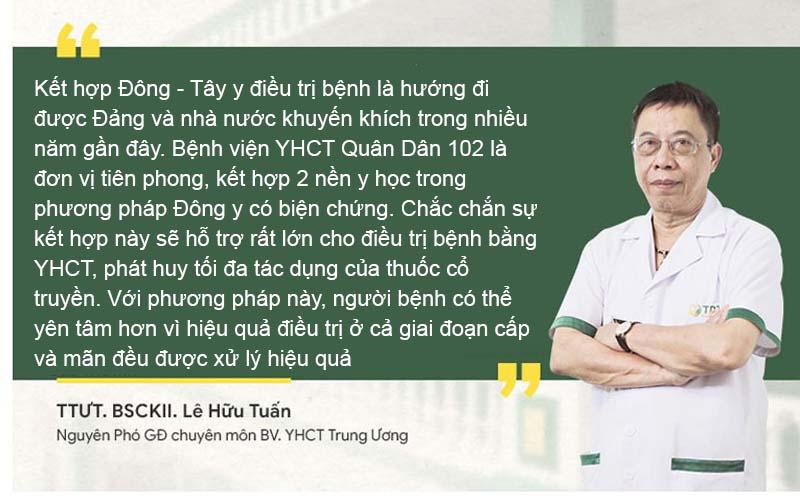 Thầy thuốc ưu tú Lê Hữu Tuấn, Nguyên PGĐ chuyên môn Bệnh viện YHCT Trung Ương nhận định về phương pháp điều trị Tai mũi họng bằng Đông y có biện chứng
