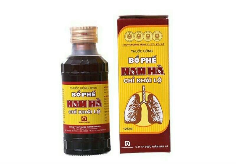 Bổ phế Nam Hà do Công ty dược phẩm Nam Hà sản xuất và phân phối