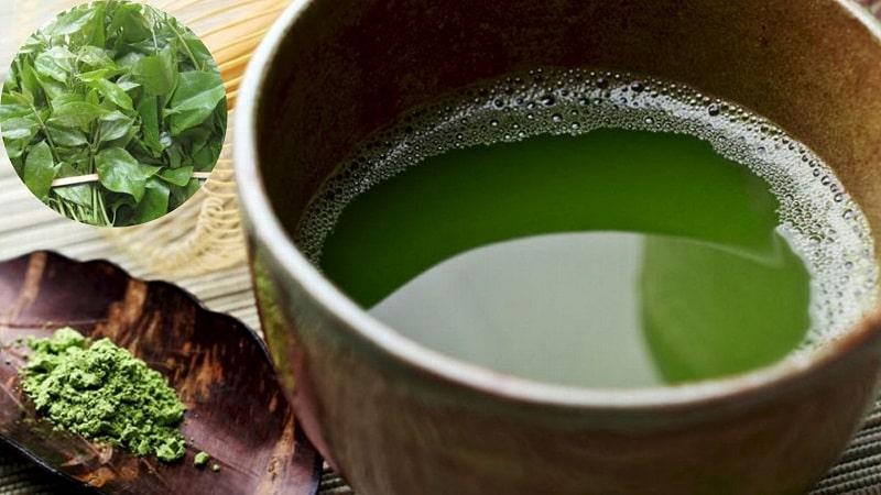 Nước uống trộn từ bột dạ cẩm và cam thảo