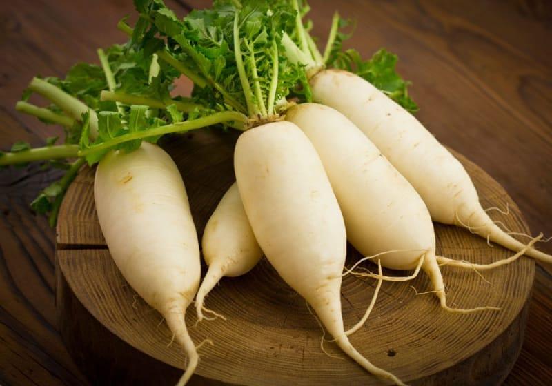 Củ cải trắng có công dụng làm dịu cổ họng, giảm tình trạng ho kéo dài