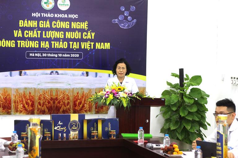 TS.BS Vân Anh phát biểu về đề án nghiên cứu khoa học chuyên sâu ĐTHT