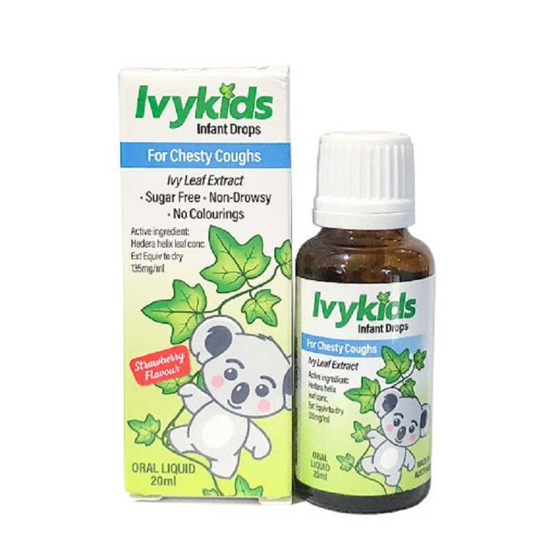 Thuốc ho Ivy Kids làm giảm các chứng ho khan, ho có đờm, ho do cảm cúm ở trẻ.