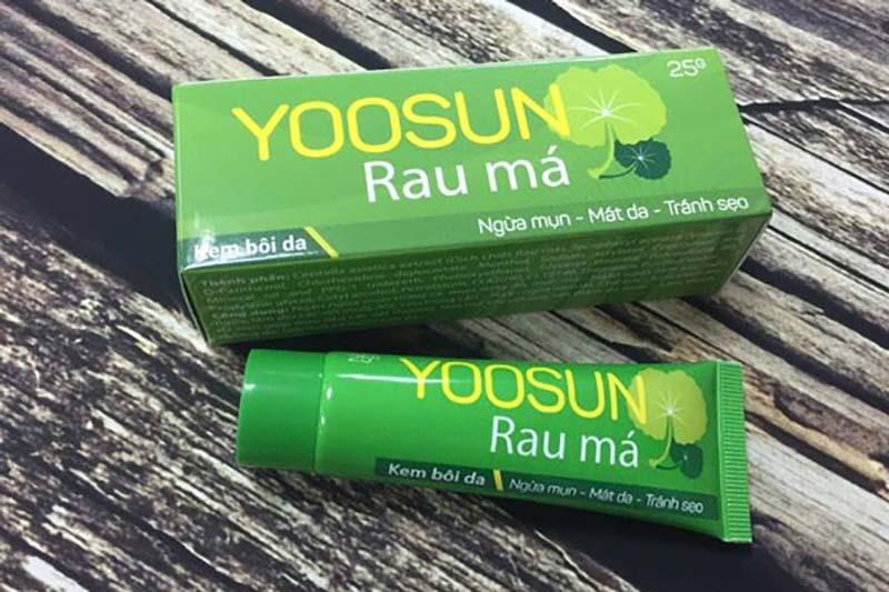 Yoosun Rau má ngoài tác dụng trị sẹo còn có thể làm dịu da cháy nắng nhanh chóng