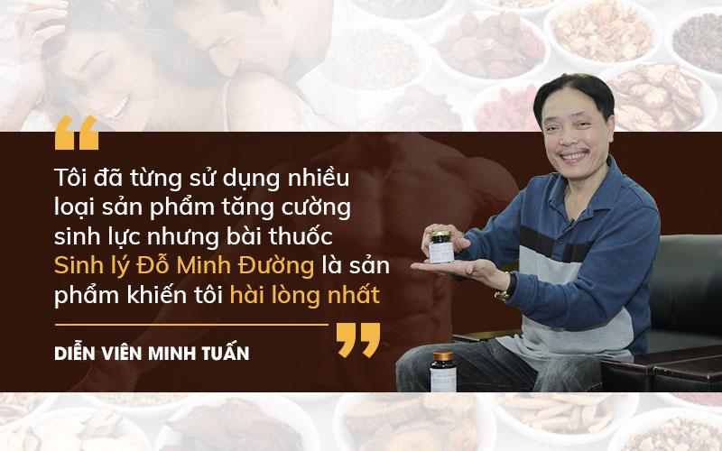 NSUT Minh Tuấn tin tưởng sử dụng bài thuốc Sinh lý Đỗ Minh