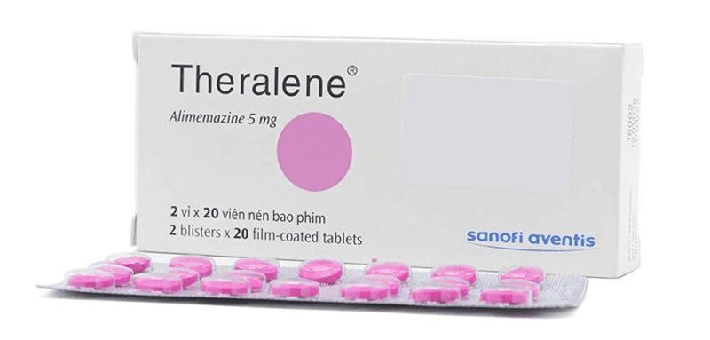 Thuốc trị ho Theralene điều trị hiệu quả triệu chứng ho khan nhiều về đêm