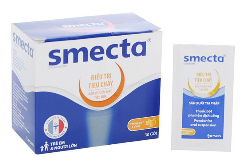10g Smecta bao gồm: 3g Diosmectit và các tá dược như Saccharin Sodium, Glucose monohydrate,...