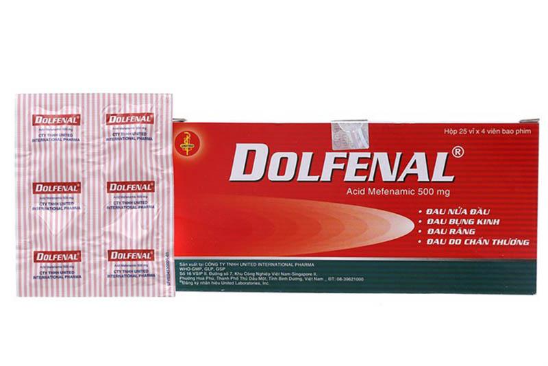 Thành phần chính của Dolfenal là Acid mefenamic 500mg