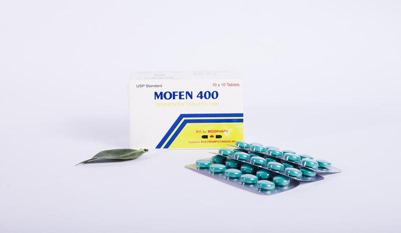 Mofen 400 là sản phẩm của công ty MEDOPHARM, có tác dụng nhanh trên nhưng cơn đau nhẹ