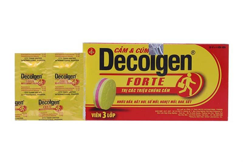 Thuốc có nhiều dạng dùng phù hợp với nhiều đối tượng bệnh nhân như Decolgen Forte, Decolgen ND, Decolgen Siro.