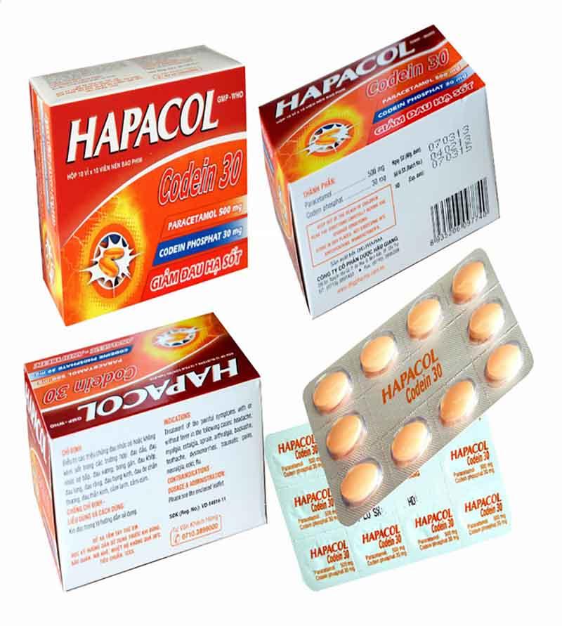Hapacol Codein ngoài dạng viên uống còn có dạng viên sủi rất tiện dụng