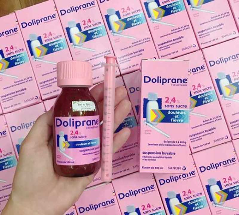 Siro hạ sốt Doliprane của Pháp đến từ thương hiệu nổi tiếng Doliprane