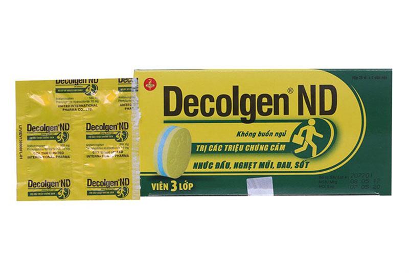 Thuốc hạ sốt Decolgen ngoài dạng viên uống thì còn có dạng viên sủi bọt