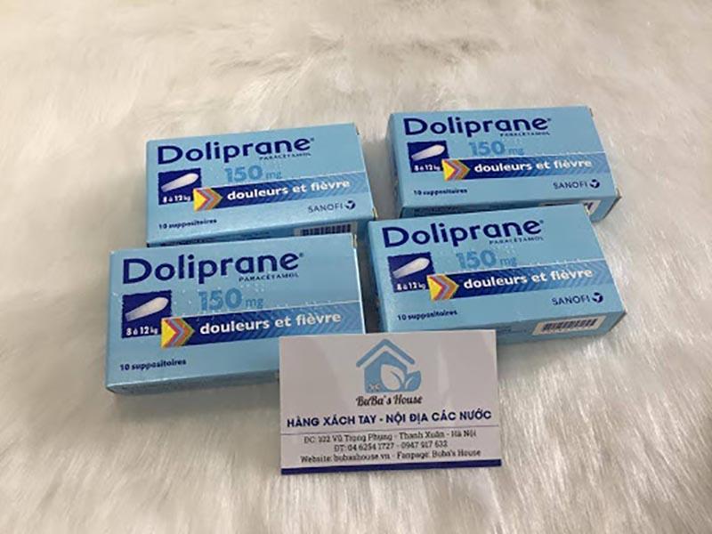 Doliprane là thuốc hạ sốt dạng viên đặt chuyên dùng cho trẻ em