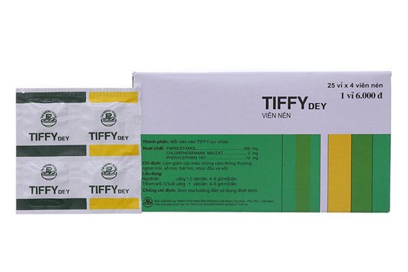Tiffy không chứa chất gây nghiện nhưng người cao tuổi dùng lâu ngày có thể bị lệ thuộc vào thuốc